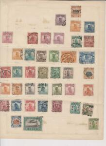 2145 China album page 40 stamps mixed condition