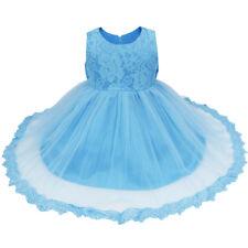 Vestido de Princesa para Chicas Bebés Infantil de Encaje Floral de Bautizo Boda