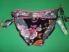 NWT Swim Suit Bikini Bottom by Malibu, size L - Black with String Ties on Hips