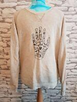 "Farah VINTAGE Grey Jumper Sweater sweatshirt Hand image Large 42"""