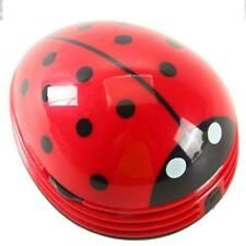 Mini Portable Ladybug Vacuum Cleaner Car Home Desktop Desk Dust Vacuum Red