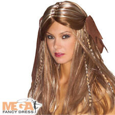 Pirate Wig Ladies Fancy Dress Caribbean Buccaner Wench Adults Costume Accessory