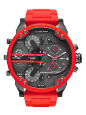 Diesel DZ7370 - Mr. Daddy - Men's Mega Chief Chronograph Watch - Red/Gunmetal