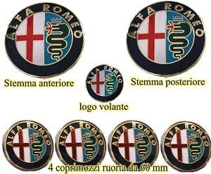 Logo stemma fregio 70mm anteriore o posteriore Universale per ALFA ROMEOO