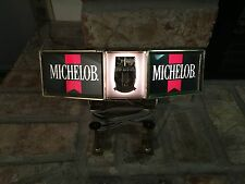 Vintage Michelob Beer Cash Register Light Lighted Lamp Sign With Clamps