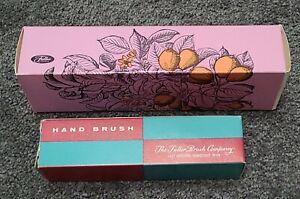 Vintage 2 Fuller Hairbrush #521 Spiral Bristlecomb & #585 Hand Brush lot boxes
