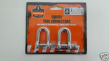 Ergodyne Squids Tool Connectors Shackles 15 lbs 3790L Large (1 Pack of 2)
