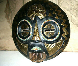 HAND CARVED ETHNIC FACE MASK