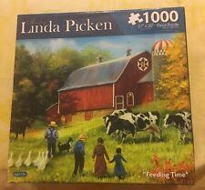 "1000 Piece Linda Picken ""Feeding Time"" Puzzle NIB 27x20   3045"