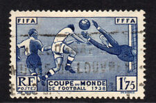 France 1.75 Franc World cup Football 1938 Used Stamp (6311)