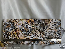 ANIMAL PRINTS FAUX LEATHER EVENING PURSE/CLUTCH/BAGUETTE/HANDBAG