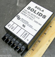 Sola Solids 85-05-210 Power Supply 115 Ac Input 5 Volt Dc Output