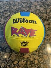 Official Beach Ball 18 of AVP Pro Rave Volleyball Tour. Good Vintage Condition.