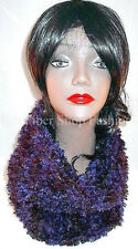 Handmade in the USA Faux Fur Womens Fashion Cowl in Blue Support Fiber Artists