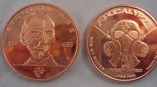 Abe Lincoln 1 oz Eidolon Abe Copper Bullion Apocalypse Zombie Round Coins