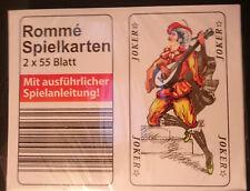 Romme, Kartenspiel, 2 x 55 Blatt, Canasta