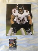 Brian Urlacher signed autographed Chicago Bears 11 x 14 Hall Of Fame Jsa Cer