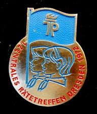 East German Young Pioneers 1st Central Councils Meeting Dresden 1972 Pin Rarity