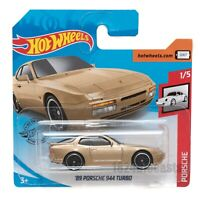 '89 Porsche 944 Turbo Gold, 2020 Hot Wheels scale 1:64, model toy car gift