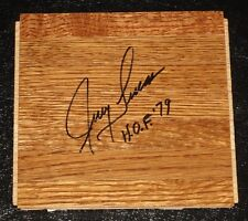 "JERRY LUCAS Autographed Piece of Floor w/""HOF '79-N.Y KNICKS,ROYALS,WARRIORS"