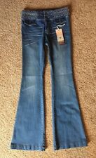Sun & Shadow Jeans Retro Light Blue Flare Stretch NWT Size 7