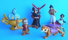DISNEY 1992 BURGER KING ALADDIN TOYS FULL SET of 5 JASMINE RAJAH ABU JAFAR GENIE