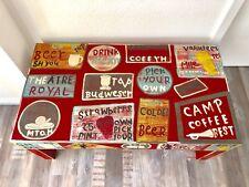 Gutmann Factory Mangoholz Couchtisch TV Board Vintage Shabby Chic Rot Bunt Neu