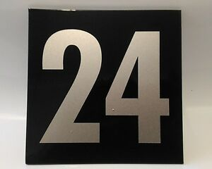 Silver on Black house number signs / 150mm x 150mm
