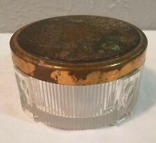 Vintage Art Deco Glass Powder Jar or Box with Lid