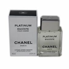 CHANEL EGOISTE PLATINUM POUR HOMME AFTER SHAVE LOTION 75 ML/2.5 FL.OZ. NIB