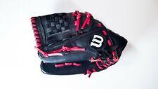 "Wilson Tempest Black LEFT HAND THROW Baseball Softball Catching Mitt Glove 12"""