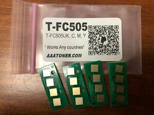 4 Toner Chip T-FC505 for Toshiba 2505AC, 3005AC, 3505AC, 4505AC, 5005AC Refill