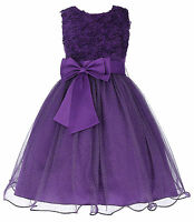Flowers Flower Girl Kid Princess Bridesmaid Wedding Gown Birthday Party Dresses