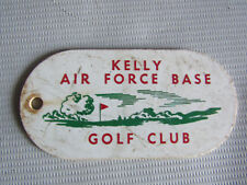 Kelly Air Force Base Golf Club Hard Plastic Key Tag Card with Picture ISSUES