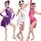 Kids Adults Tassels Latin Dancewear Costume Girls Salsa Ballroom dance Dress