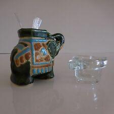 2 sujets en céramique faïence et verre de style art-déco