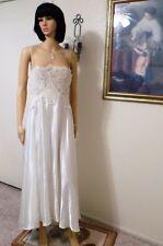 JONQUIL by DIANE SAMANDI VTG BRIDAL WHITE SATIN & LACE Nightgown plus size 1X