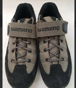 Shimano WM40 Womens Specific Fit Brown Cycling Spin Shoes Clip Size 5