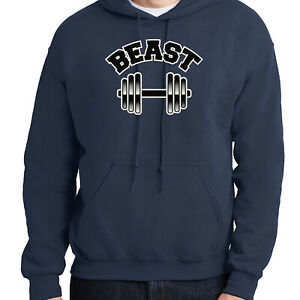 Beast Cool Gift for him Hoodie Workout Mode Hooded Pullover - 1128C