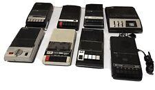 Lot Of 8 Vintage Cassette Recorders Panasonic Sharp Winsor GE Realistic ++