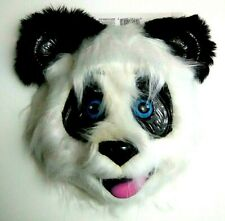 Panda Bear Face Mask Furry Halloween Costume Party Cosplay Kung Fu Oriental