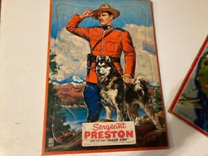 Vintage 1950s SERGEANT PRESTON With Dog Yukon King Framed Tray Jigsaw Puzzle