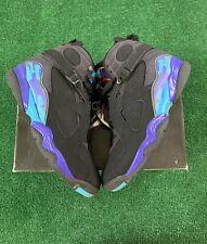Nike Air Jordan 8 Retro 'Aqua' 2007 Men's Size 11 Black/Aquatone 305381-041