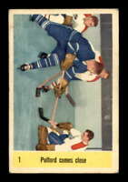 1958 Parkhurst #1 Bob Pulford IA ! VGEX X1498401
