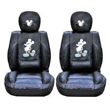 Mickey Maus Auto Sitzbezüge Premium Limited Edition Kunstleder (Paar), Schwarz