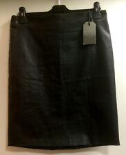 BNWT AllSaints Metal Pencil Skirt Ladies Black Size UK 14