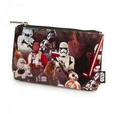 STAR WARS Force Awakens Multi-Character Womens Coin / Cosmetic Zipper Bag Clutch
