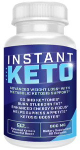Instant Keto Pills Advanced BHB Boost Ketogenic Supplement Exogenous Ketones