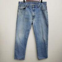 Levis Mens 550 Jeans 38x32 Medium Wash 100% Cotton Denim Work Pants Red Tab