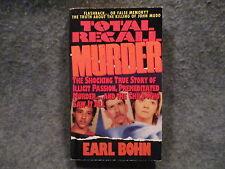 Total Recall Murder Earl Bohn 1995 Paperback Book Dell Books Publishing